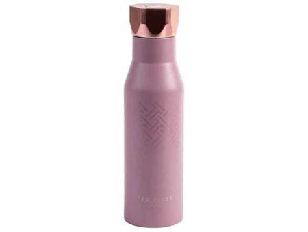 Ted Baker Dusky Pink Water Bottle Hexagonal Lid 425ml