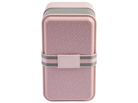 Ted Baker Stackable Dusky Pink Lunch Box