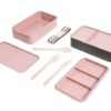 Ted Baker Stackable Dusky Pink Lunch Box laid out