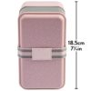 Ted Baker Stackable Dusky Pink Lunch Box Dimensions