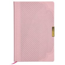Ted Baker A5 Brogue Geo Dusky Pink Notebook