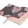 Ted Baker A5 Brogue Geo Dusky Pink Notebook Open