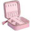 Ted Baker Dusky Pink Jewellery Case T Print Open