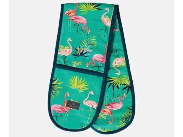 Sara Miller Double Tahiti Flamingo Oven Glove
