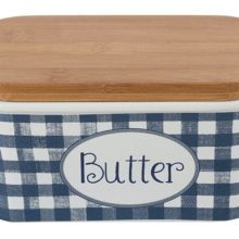 Katie Alice Indigo Vintage Butter Dish Large