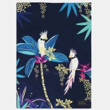 Sara Miller Tahiti Cockatoo Tea Towel Placement Blue