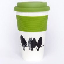 Sandra Vick mugs2go Starlings Bone China Travel Mug