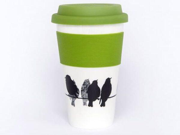 Sandra Vick mugs2go Starlings Bone China Travel Mug