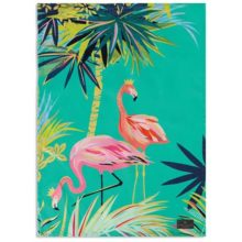 Sara Miller Tahiti Flamingo Placement Tea Towel