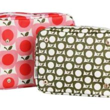Orla Kiely Double Washbag Apple