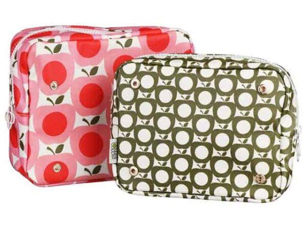 Orla Kiely Double Washbag Apple