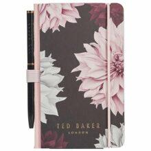 Ted Baker Mini Notebook & Pen - Clove