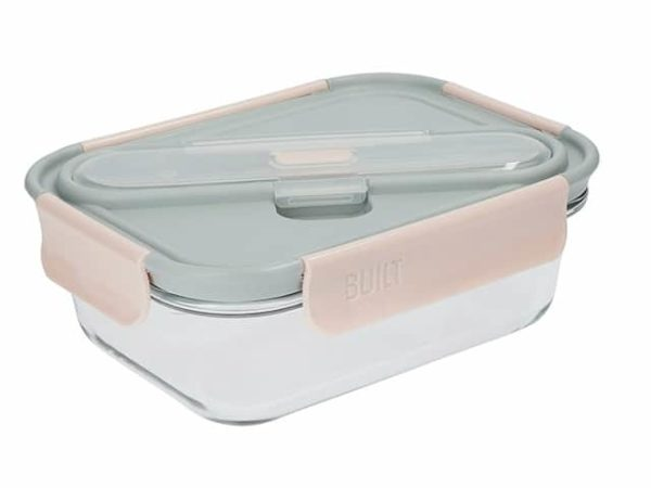 Built NY Mindful Glass Lunch Box with Cutlery 900ml