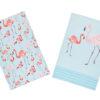 KitchenCraft Flamingos Tea Towels 2 Piece Set