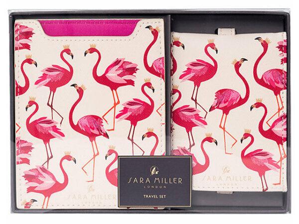 Sara Miller Flamingo Travel Set