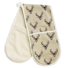 Woodland Trust Stag Double Oven Glove Panama Cotton