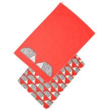 Scion Spike Hedgehog Red Tea Towels Set of 2