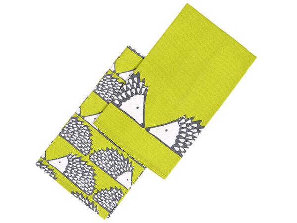 Green Hedgehog Tea Towels