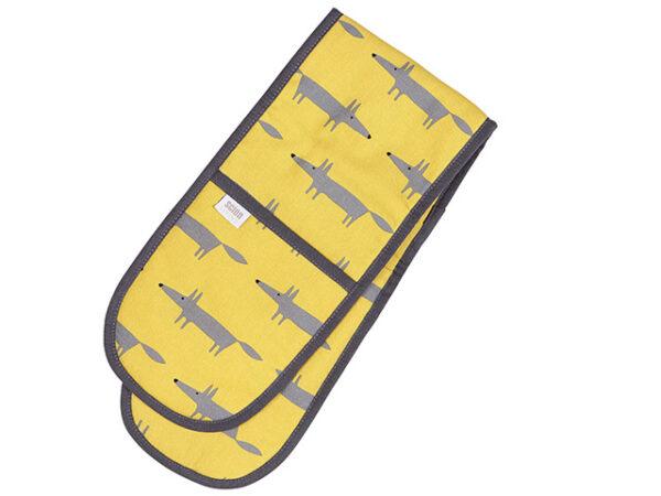Scion Mr Fox Yellow Double Oven Glove