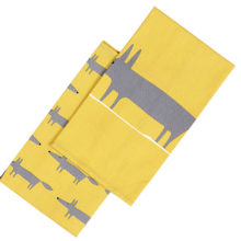Scion Mr Fox Yellow Tea Towels Set of 2