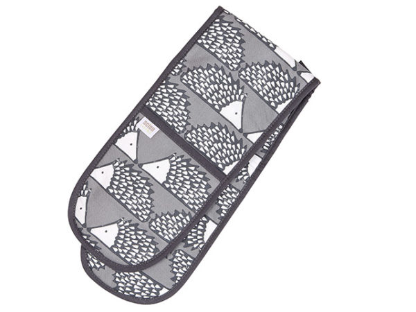 Scion Spike Hedgehog Dark Grey Double Oven Glove