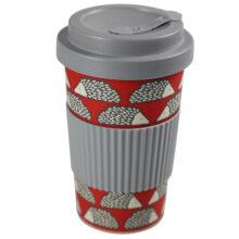 Scion Spike Hedgehog Bamboo Travel Mug Red 400ml