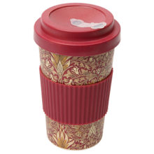 Morris & Co Bamboo Snakeshead Travel Mug Claret 400ml