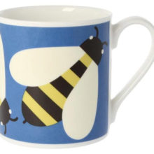 Orla Kiely Busy Bee Blue Mug 350ml