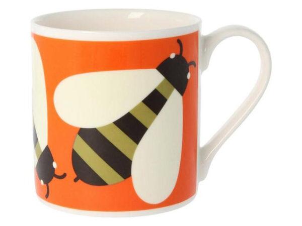 Orla Kiely Busy Bee Mug Orange