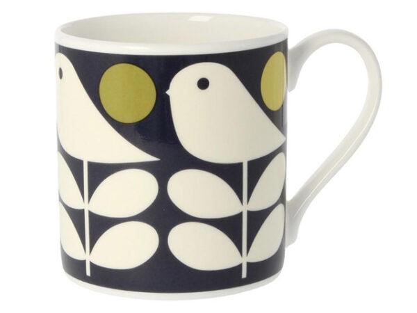 Orla Kiely Early Bird Dark Navy Mug