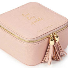 Katie Loxton Tassel Square Jewellery Box | Live Love Sparkle | Pink