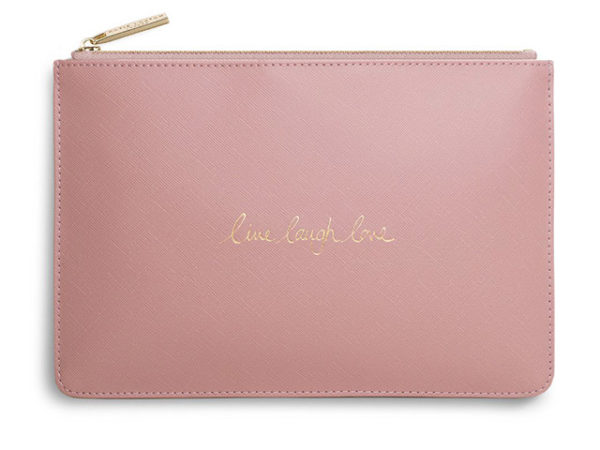 Katie Loxton Perfect Pouch | Live Laugh Love | Pink