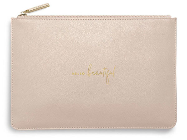 Katie Loxton Perfect Pouch | Hello Beautiful | Dusty Pink