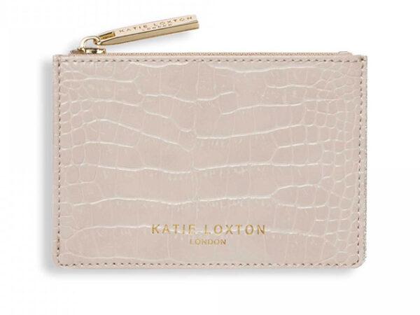 Katie Loxton Celine Faux Croc Coin Purse   Oyster