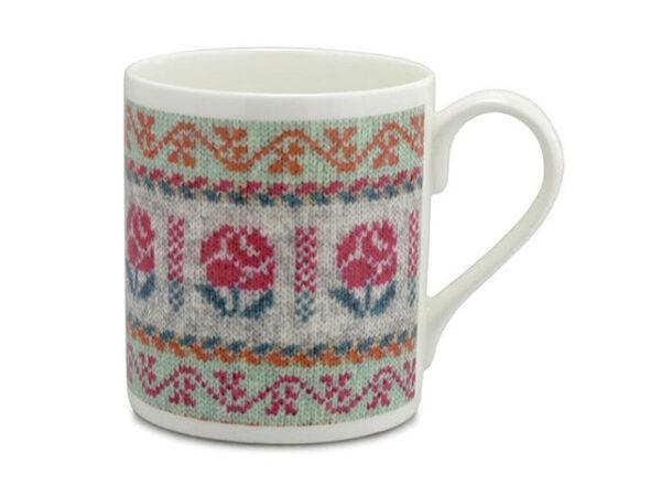 Brora Vintage Rose Fair Isle Mug