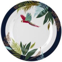 Sara Miller Parrot Melamine Plate Set of 4 20cm Diameter