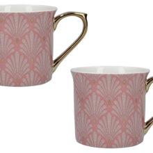 Victoria And Albert Scallop Shells Pink Palace Mugs Set Of 2