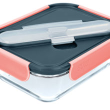 Built New York Tropics Glass 900ml Lunch Box with Cutlery