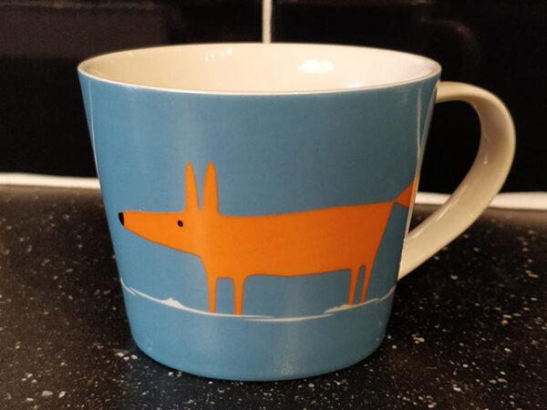 Scion Living Mr Fox Large Mug Duck Egg Blue and Orange 525ml