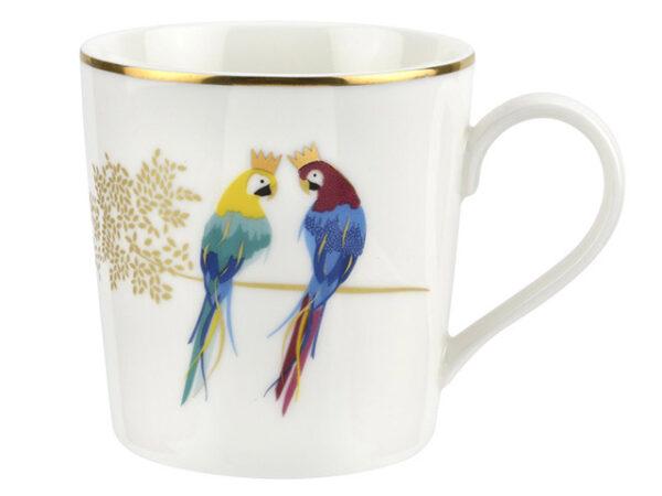Sara Miller Piccadilly Posing Parrots Mug