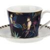 Sara Miller Tahiti Cockatoo Tea Cup & Saucer