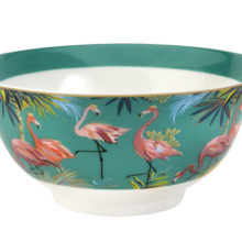 Sara Miller Flamingo Tahiti Candy Bowl