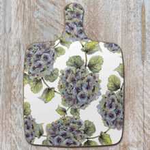 Toasted Crumpet Hydrangea Pure Chopping Board