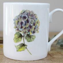Toasted Crumpet Hydrangea Mug in a Gift Box