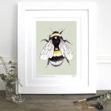 "Toasted Crumpet Busy Little Bee 10 x 12"" Mounted Fine Art Print"