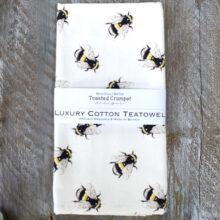 Toasted Crumpet Bee Tea Towel