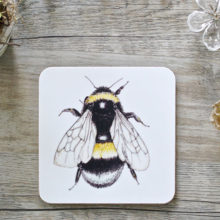 Toasted Crumpet Bumblebee Coasters Set of 4