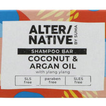 Alter/native By Suma Glycerine Argan Oil And Coconut Shampoo Bar