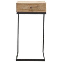 Geometric Style Iron Base Bedside Table
