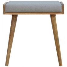 Grey Tweed Tray Style Footstool